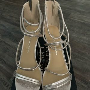 Chinese Laundry Gold Strappy Heels